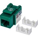 Intellinet Cat6 UTP Punch-down Keystone Jack, Green