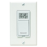 Honeywell RPLS730B1000/U 7-Day Programmable Light Switch Timer (White)