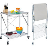 Honey-can-do Stainless Steel Folding Work Table - TBL-01566
