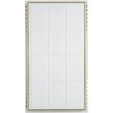 WHITE W/BRS TRIM DOORBELL