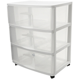 Homz Large Three Drawer Cart