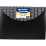 C-Line Products Poly XL Reusable Envelope w/ Hook and Loop Closure, Fashion Circle Series, 1/EA