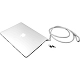 "MacBook Air 13 Inch Lockable Case Bundle With T-Bar Cable Lock and MacBook Air 13"" Security Case / Cover Clear"