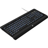 Aluratek Large Print Tri-Color Illuminated USB Keyboard