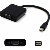 AddOn 8in Mini-DisplayPort 1.1 to VGA Male to Female Black Adapter Cable