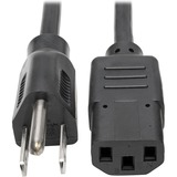 """Tripp Lite 15ft Computer Power Cord Cable 5-15P to C13 10A 18AWG 15' - 10A,18AWG (NEMA 5-15P to IEC-320-C13) 15-ft."""""""