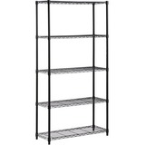 Honey-can-do SHF-01442 5-Tier Industrial Shelving Holds 200-Pounds Per Shelf, 72-Inch, Black