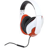SYBA Multimedia Oblanc Shell (White/Red) Stereo Headphone w/In-line Microphone