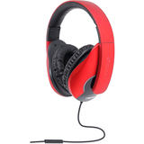 SYBA Multimedia Oblanc Shell (Red/Black) Stereo Headphone w/In-line Microphone