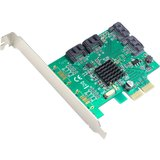SYBA Multimedia 4-port SATA III PCI-e Version 2.0, x2 Slot Controller Card