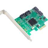SYBA Multimedia 4-port SATA III PCI-e Version 2.0, x2 Slot Controller Card