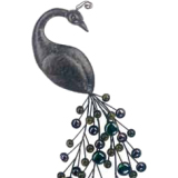"Gardman Peacock Wall Art - 8.75"" L x 19"" W"