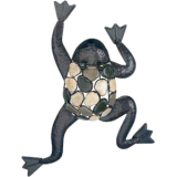 "Gardman Climbing Frog with Natural Stone Wall Art - 15"" L x 21"" W"