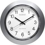 14in. Atomic Analog Clock Slvr