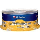 Verbatim DVD+RW 4.7GB 4X with Branded Surface - 30pk Spindle - TAA Compliant