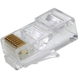 Weltron RJ-45, 8P8C Modular Plug for CAT5E Rated Round Cable
