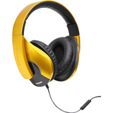 SYBA Multimedia Oblanc SHELL200 Saffron Yellow Stereo Headphone W/in-line Microphone