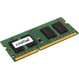 Crucial 2GB, 204-pin SoDIMM, DDR3 PC3-12800 Memory Module