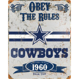 Party Animal Cowboys Vintage Metal Sign