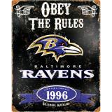 Party Animal Ravens Vintage Metal Sign