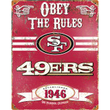 Party Animal Forty-Niners Vintage Metal Sign