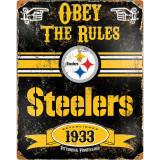 Party Animal Steelers Vintage Metal Sign