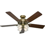 52IN STUDIO FAN ANTQ BRASS
