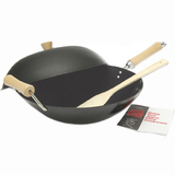 4PC 14IN NON-STICK WOK SET