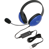 Califone Blue Stereo Headphone w/ Mic, USB Connector Via Ergoguys