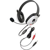 Califone Stereo Headset, Panda w/ Mic Dual 3.5mm Plug Via Ergoguys