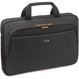 "Solo Carrying Case (Briefcase) for 15.6"" Notebook, Digital Text Reader, Tablet, iPad - Orange, Black"