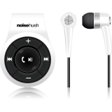 NoiseHush Clip On Bluetooth Stereo Headset White Via Ergoguys
