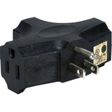 QVS 3-Outlets Space-Saver Grounded Power Outlet Splitter