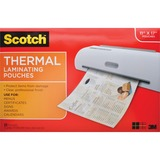Scotch Front and Back Thermal Laminating Pouches - 11.4x17.4 in Menu Size