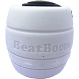 BeatBoom Speaker System - Battery Rechargeable - Wireless Speaker(s) - Black, White