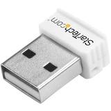StarTech.com USB 150Mbps Mini Wireless N Network Adapter - 802.11n/g 1T1R USB WiFi Adapter - White