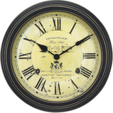 "AcuRite 18"" Vintage Port Wine Wall Clock 50324"