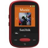 SanDisk Clip Sport SDMX24-004G 4 GB Flash MP3 Player - Red