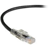 Black Box GigaTrue 3 CAT6 550-MHz Lockable Patch Cable (UTP), Black, 1-ft. (0.3-m)