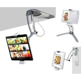 CTA Digital 2-in-1 Kitchen Mount Stand for iPad Air, iPad mini, Surface, & Other 7-12 Inch Tablets