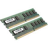 Crucial 4GB kit (2GBx2), 240-pin DIMM, DDR3 PC3-12800 Memory Module