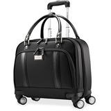 "Samsonite Carrying Case (Roller) for 15.6"" Notebook, Tablet, Document, File - Black - Shock Resistant Interior - Nylon, Denier Polyester - Handle"