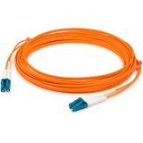 AddOn 2m LC (Male) to LC (Male) Orange OM1 Duplex Fiber OFNR (Riser-Rated) Patch Cable
