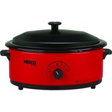 Nesco 6 Qt. Red Roaster with Porcelain Cookwell