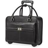 """Samsonite Ladies Business Carrying Case (Briefcase) for 15.6"""" Notebook, iPad, Tablet, Accessories - Black, Mulberry"""
