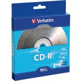 Verbatim CD-R 700MB 52X with Branded Surface - 10pk Bulk Box