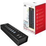 Vantec 7 Port USB 3.0 Aluminum Smart Charging Hub