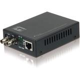LevelOne FVT-2002 10/100BASE-TX to 100BASE-FX MMF ST Mini Media Converter, 2km