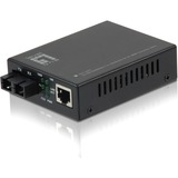 LevelOne GVT-2001 10/100/1000BASE-T to 1000BASE-SX MMF SC Mini Media Converter, 550m
