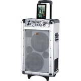 QFX PBX-3081BT Speaker System - Battery Rechargeable - Wireless Speaker(s) - Silver